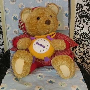 Chunky bear with watch 13 inches tall